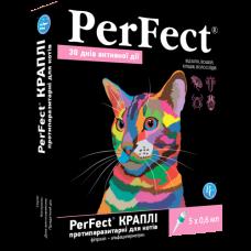 Перфект (Perfect) краплі для котів протипаразитарні